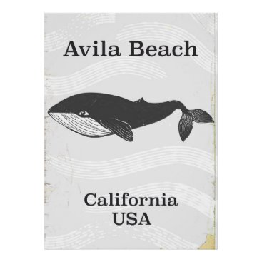 Beach Themed Avila Beach California Travel poster