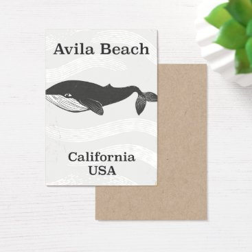 Beach Themed Avila Beach California Travel poster Business Card