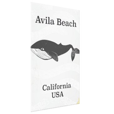 Beach Themed Avila Beach California Travel poster Canvas Print