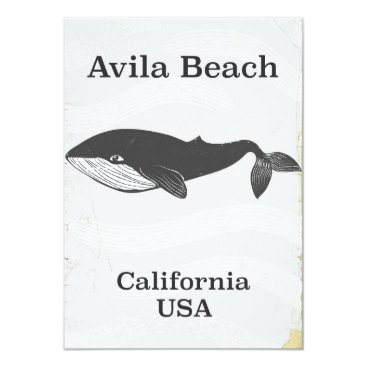 Beach Themed Avila Beach California Travel poster Card
