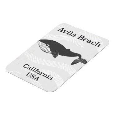USA Themed Avila Beach California Travel poster Magnet