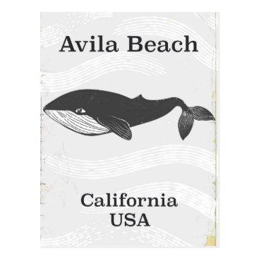 Beach Themed Avila Beach California Travel poster Postcard