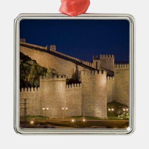 Ávila, Castile y León, España Adorno Cuadrado Plateado