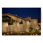 Ávila, Castile y León, España Tarjeta De Felicitación