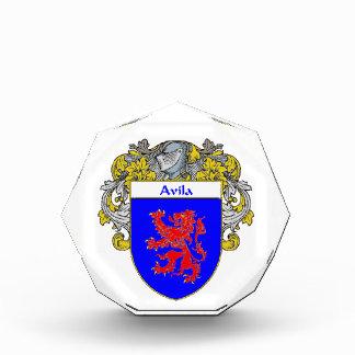 Avila Coat of Arms Family Crest Acrylic Award