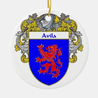 Avila Coat of Arms/Family Crest: Ceramic Ornament