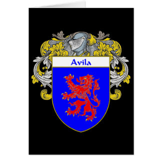 Avila Coat of Arms (Mantled) Card