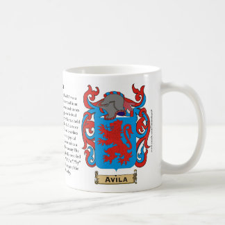 Ávila, el origen, el significado y la taza del esc