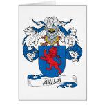 Avila Family Crest Greeting Cards