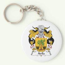 Avila Family Crest Keychain