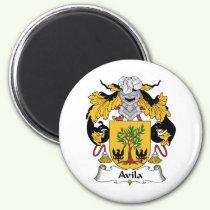 Avila Family Crest Magnet