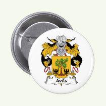 Avila Family Crest Button