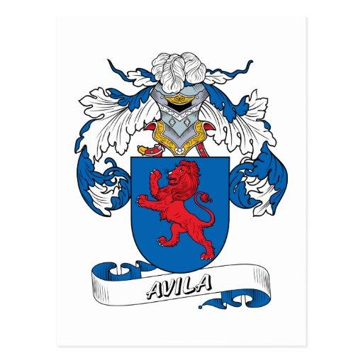 Avila Family Crest Post Cards