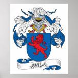Avila Family Crest Poster