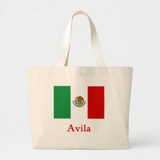 Avila Mexican Flag Large Tote Bag