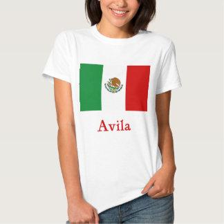 Avila Mexican Flag T Shirt