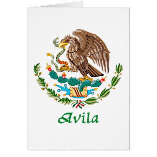 Avila Mexican National Seal Card