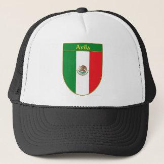Avila Mexico Flag Shield Trucker Hat