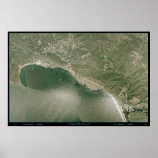 Avila & Pismo Beach, CA satellite print map