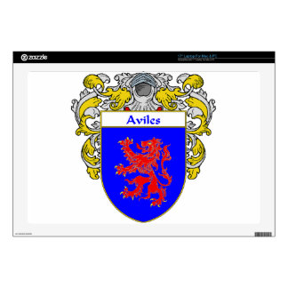 """Aviles Coat of Arms/Family Crest: 17"""" Laptop Decal"""