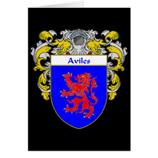 Aviles Coat of Arms/Family Crest: Card
