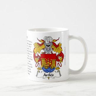 Avilés, el origen, el significado y el escudo tazas de café
