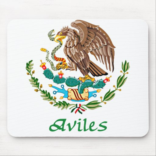 Aviles Mexican National Seal Mouse Pad