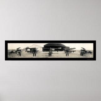 Avión 1927 del hidroavión del piloto de la base de póster