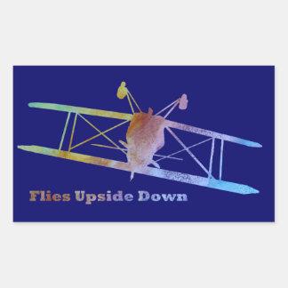Avión al revés del truco de las moscas rectangular altavoz