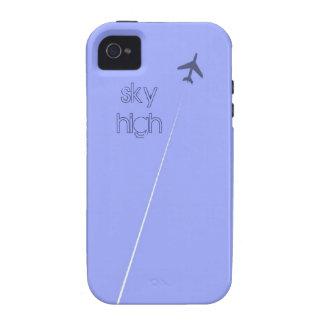 Avión altísimo púrpura del avión de los aviones vibe iPhone 4 carcasas