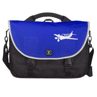 Avión azul bolsa de ordenador