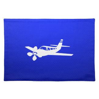 Avión azul mantel individual