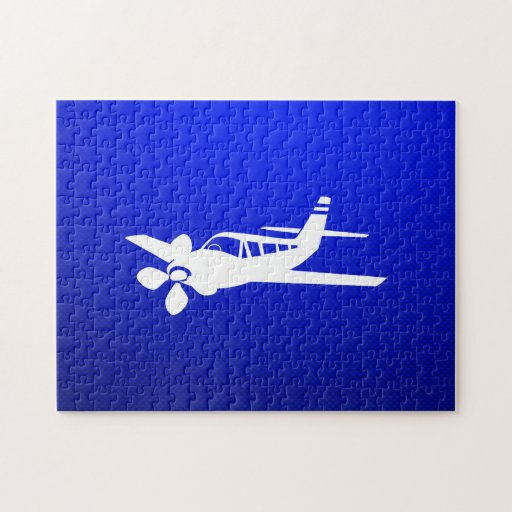 Avión azul puzzle