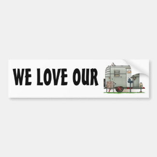 Avion Camper Trailer Bumper Sticker