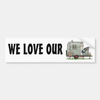 Avion Camper Trailer Bumper Stickers