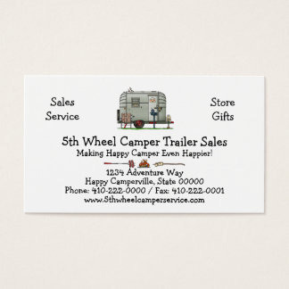 Avion Camper Trailer HSH Business Card