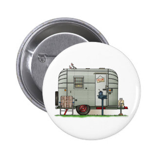 Avion Camper Trailer Pinback Button