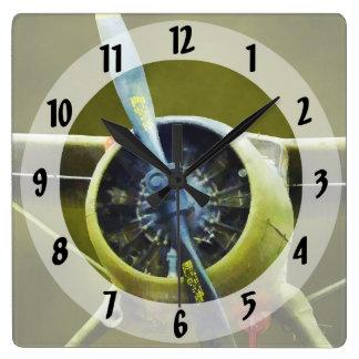Avión - castor de DeHavilland U-6A Reloj Cuadrado