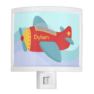 Avión colorido, lindo para el sitio de los muchach lámpara de noche
