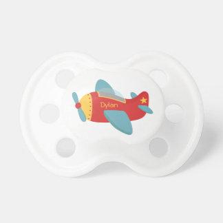 Avión colorido y adorable del dibujo animado chupete de bebe