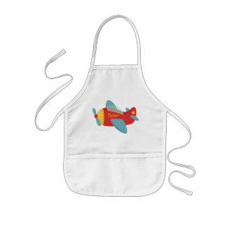 Avión colorido y adorable del dibujo animado delantales