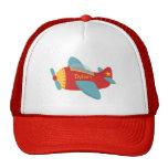 Avión colorido y adorable del dibujo animado gorras