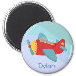 Avión colorido y adorable del dibujo animado imanes