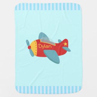 Avión colorido y adorable del dibujo animado mantita para bebé