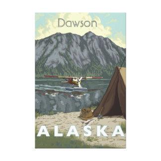 Avión de Alaska Bush y viaje de la pesca Impresion De Lienzo