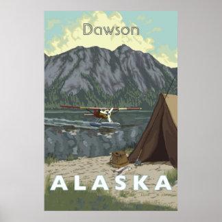 Avión de Alaska Bush y viaje de la pesca Póster