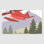 Avión de Alaska Pegatina Rectangular