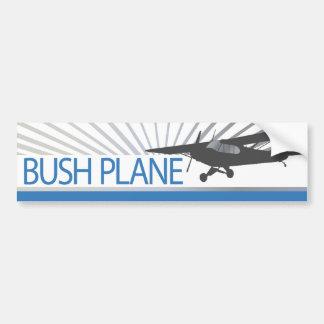 Avión de Bush Pegatina De Parachoque