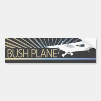 Avión de Bush Etiqueta De Parachoque