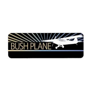 Avión de Bush Etiqueta De Remitente